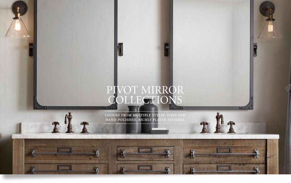 pivot mirrors rh
