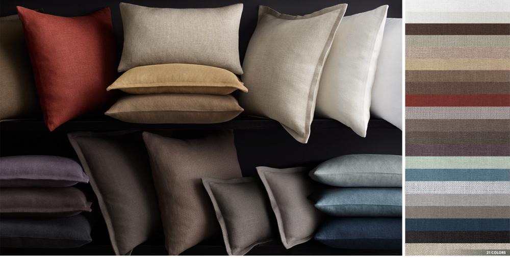 Belgian Linen Pillow Cover Collection Rh