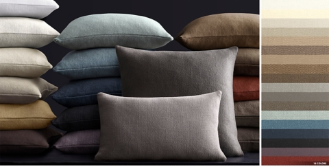 Belgian Linen Basket Weave Pillow Collection Free Shipping