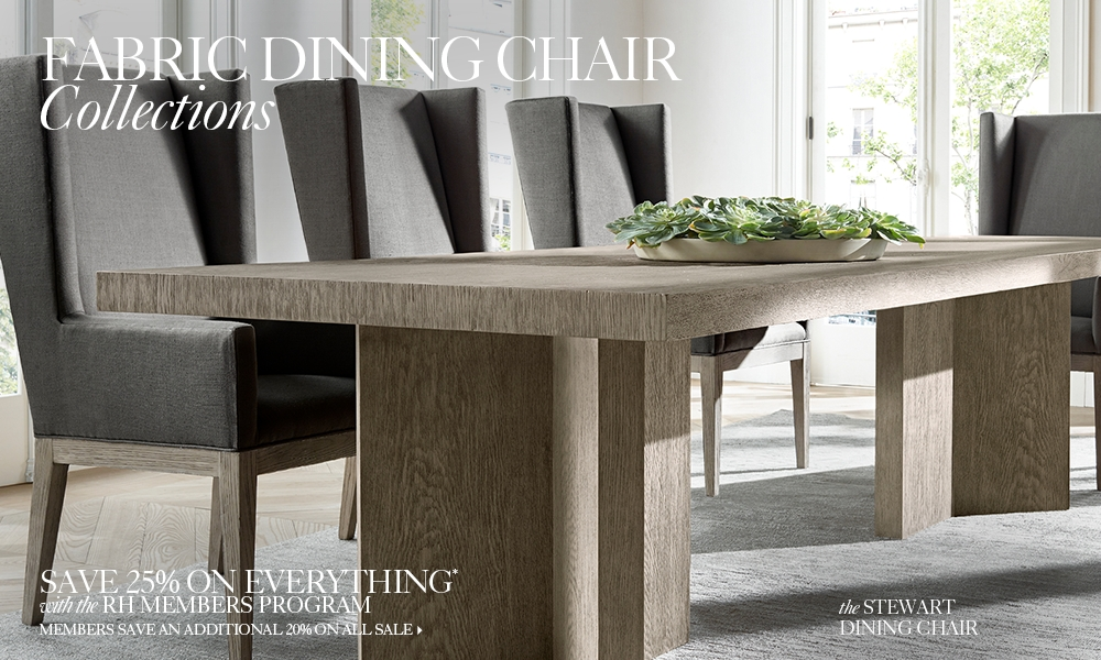 Fabric Dining Room Chairs fabric chair collections | rh