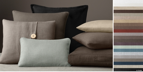 Custom Heavy Weight Belgian Linen Pillow Collection FREE SHIPPING