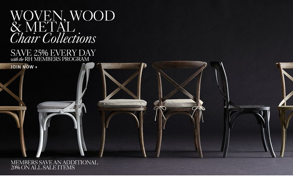 Woven, Wood, Metal Chair Collections