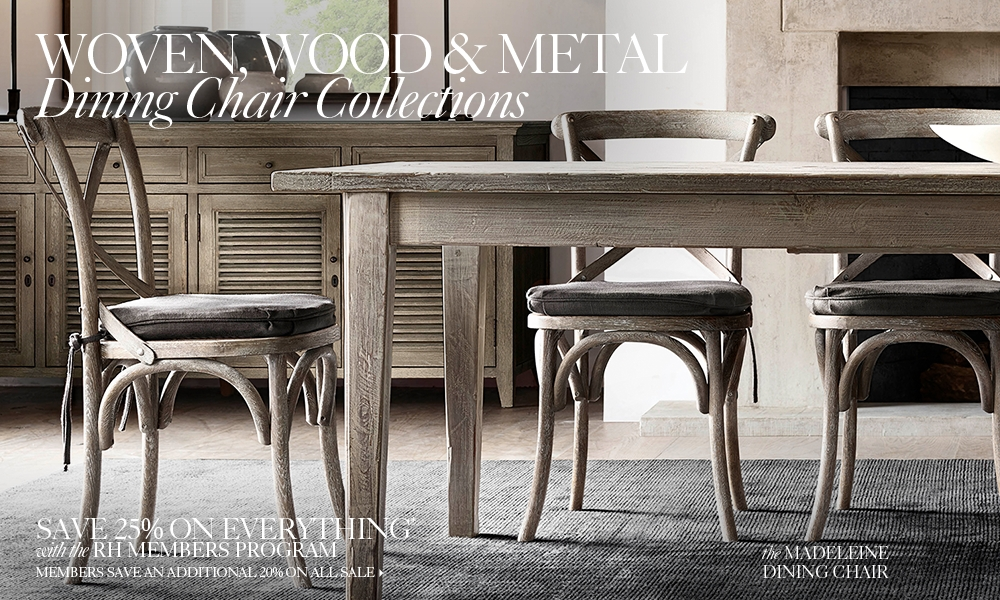 woven, wood  metal chair collections  rh, Home designs