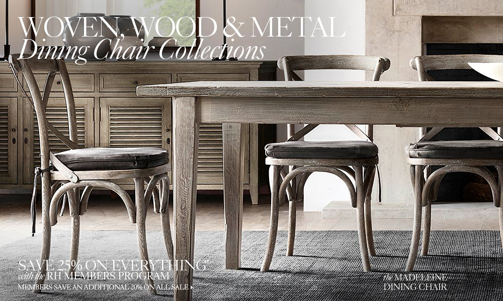 Woven Wood Amp Metal Chair Collections Rh