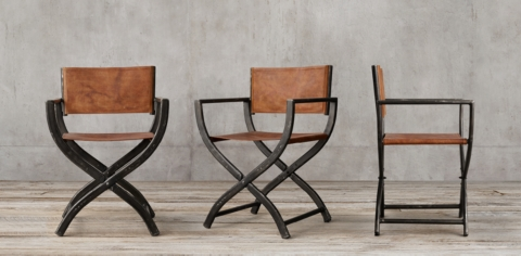 Superbe 1970s Directoru0027s Chair Collection