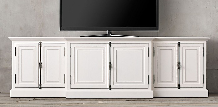 distressed white tv consoles home ideas. Black Bedroom Furniture Sets. Home Design Ideas