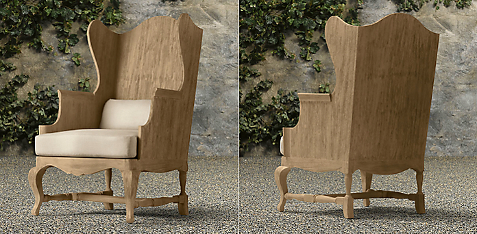 18th c. teak wingback chair collection   rh