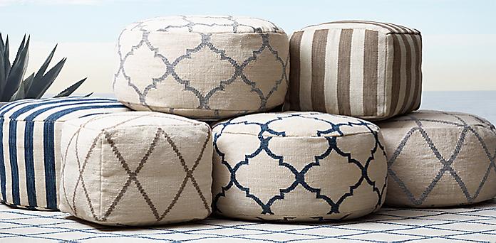 Pleasant Ben Soleimani Pouf Collection Rh Modern Pdpeps Interior Chair Design Pdpepsorg