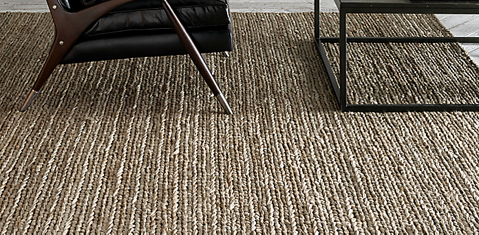 chunky hand-braided jute rug collection | rh
