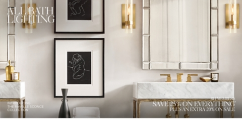 Linear Wall Sconce Mirror Bathroom
