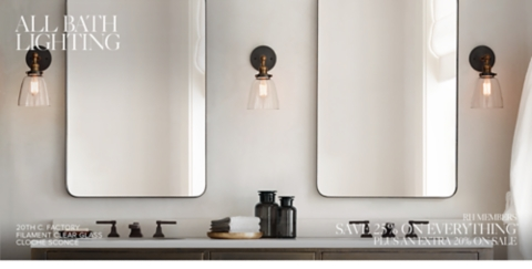 Bath Sconce Collections & All Bath Lighting | RH