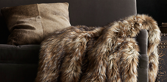 Exotic Faux Fur Throw Rh