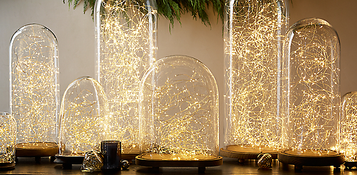 restoration hardware knockoff twinkly light holiday display - Restoration Hardware Christmas Lights