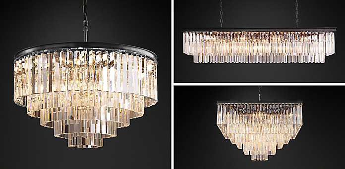 1920s Odeon Gl Fringe Chandelier Collection Rh