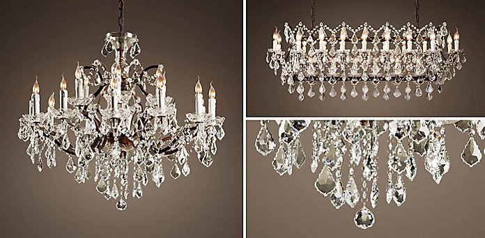 19Th C Rococo Iron Crystal Chandelier Collection