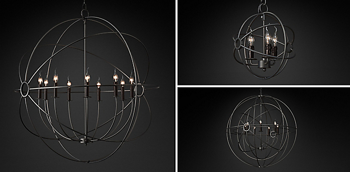 - Foucault's Orb Chandelier Collection RH