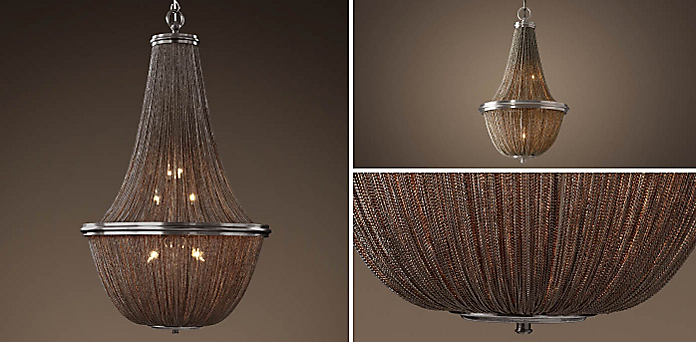 Chandelier collections rh 19th c french empire chainmail collection aloadofball Images