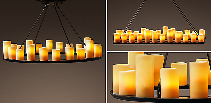 Pillar candle chandelier collection rh resources aloadofball Image collections