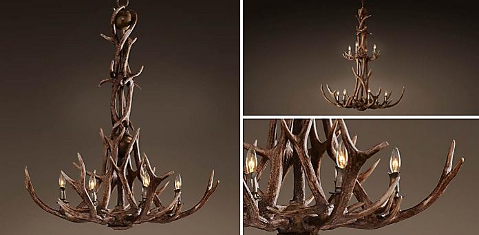 Adirondack antler chandelier collection rh aloadofball Images