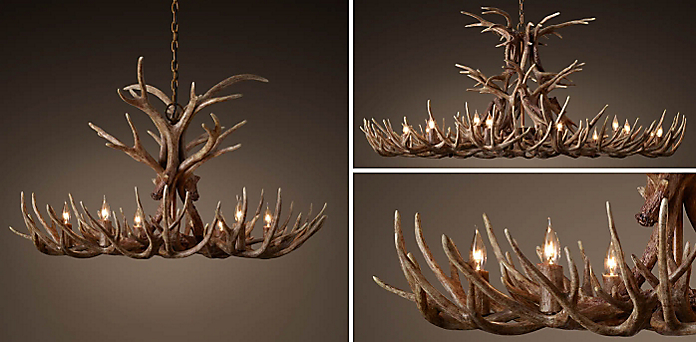 Chandelier collections rh aspen antler collection aloadofball Images