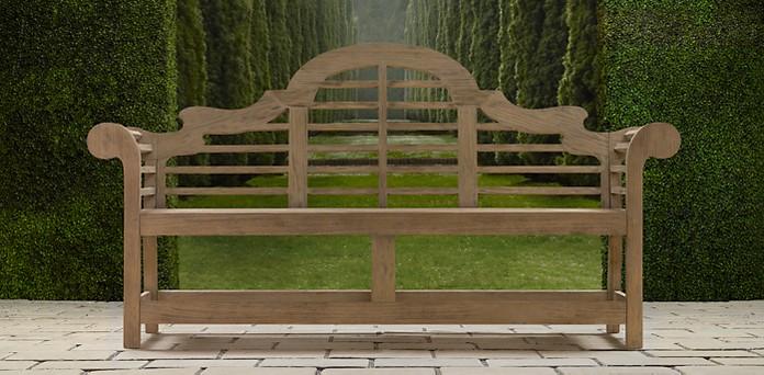 Teak Benches RH - Teak patio bench