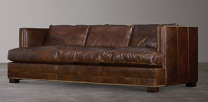 Restoration Hardware Leather : Easton sofa upholstered thesofa