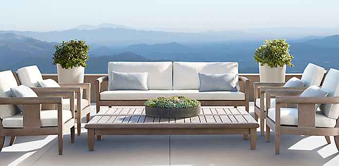 Frames starting at 1270 for Restoration hardware teak outdoor furniture