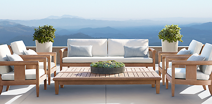 Modern Wood Patio Furniture furniture collections | rh