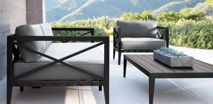 Modern Iron Patio Furniture Interior Design