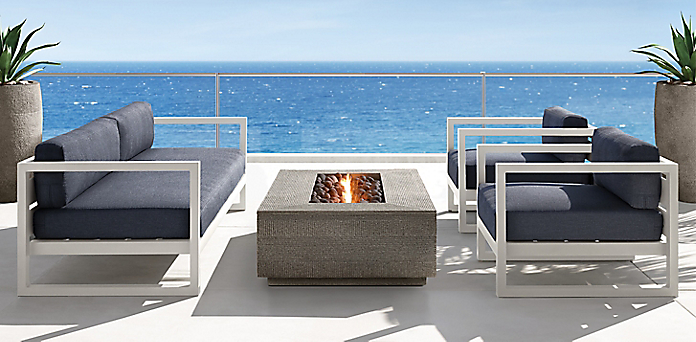 aegean aluminum collection - Modern Aluminum Patio Furniture