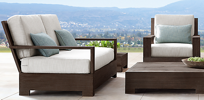 Furniture collections rh for Restoration hardware teak outdoor furniture