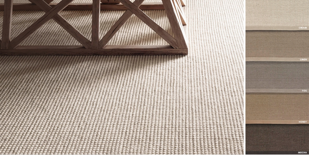 Custom Belgian Looped Wool Sisal Rug