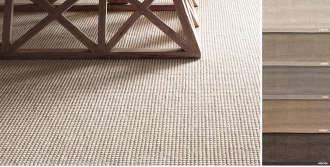 Custom Belgian Looped Wool Sisal Rug