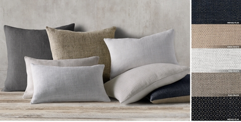 Belgian Linen Textured Weave Pillow Collection Free Shipping