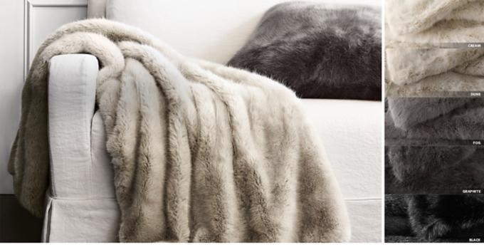 Ultra Faux Fur Throw Free Shipping