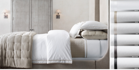 Bed Linen Ideas Part - 22: Italian Parallel Border Bedding Collection Free Shipping