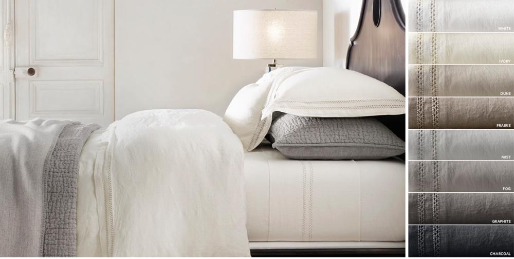 linen bedding | rh