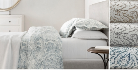 Bedding And Linens Part - 22: Italian Distressed Scroll Linen Bedding Collection Free Shipping