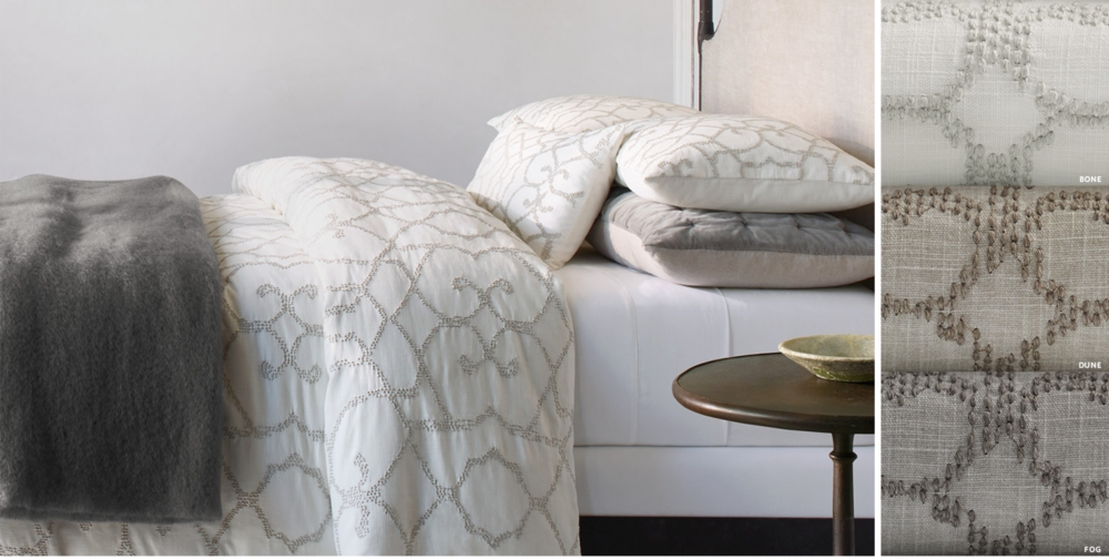 Textural Seed Stitch Cotton Bedding Collection Free Shipping. Bedding Collections   RH