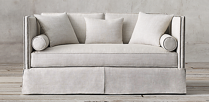 Restoration Hardware Sofa Slipcover English Roll Arm