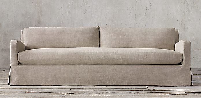 Restoration Hardware Belgian Linen Sofa Belgian Track Arm