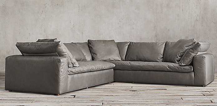 Cloud Sectional Sofa Cloud Modular Slipcovered L Sectional