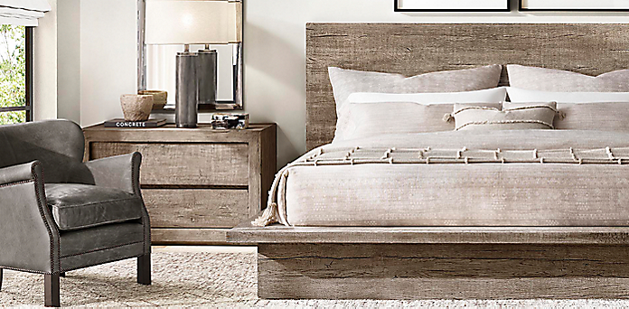 Introducing Reclaimed Russian Oak Platform Bed