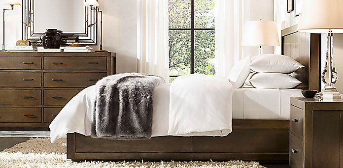 restoration hardware bedrooms. La Salle Metal Wrapped Collection Bedroom Collections  RH