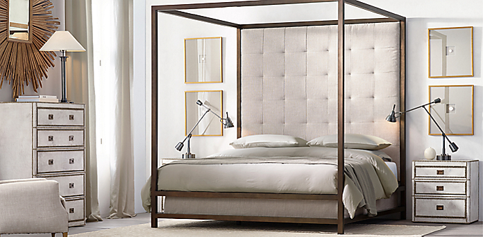 - Montrose Canopy Bed Collection - Brass RH