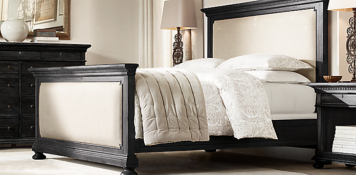 wood and upholstery bed. St  James Upholstered Collection Bedroom Collections RH