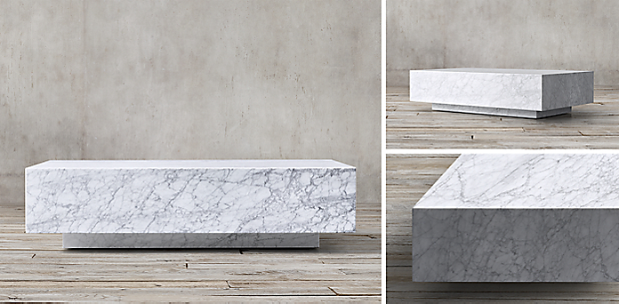 Marble Plinth Coffee Table Modern Coffee Tables And