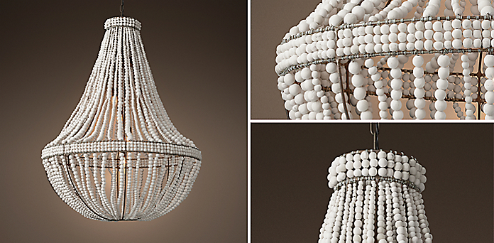 Chandelier collections rh clay bead empire collection aloadofball