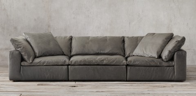 Cloud Modular Leather Sofa RH