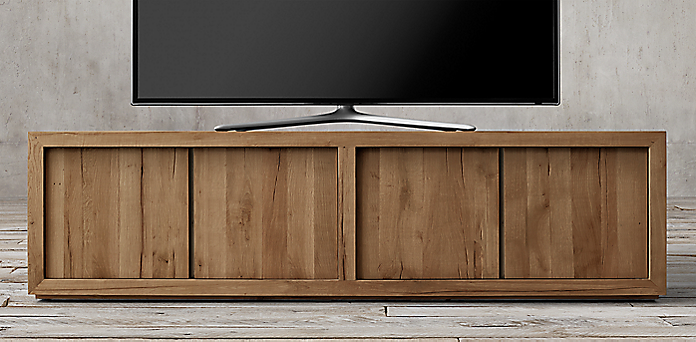Reclaimed Russian Oak Panel Collection - Media Collections RH